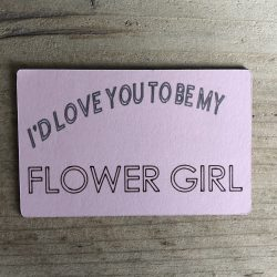 I'd Love You To Be My Flower Girl - Magnet