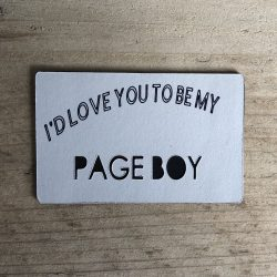 I'd Love You To Be My Page Boy - Magnet